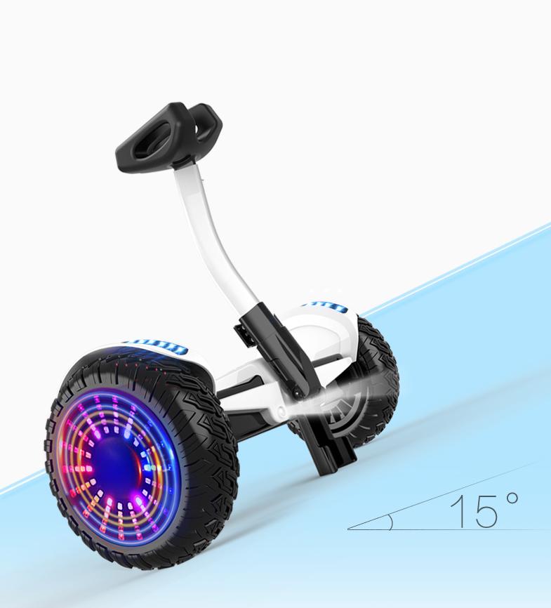 Xe điện cân bằng siêu cấp - 2 tay điều khiển và chân kẹp - Phát nhạc Bluetooth 5