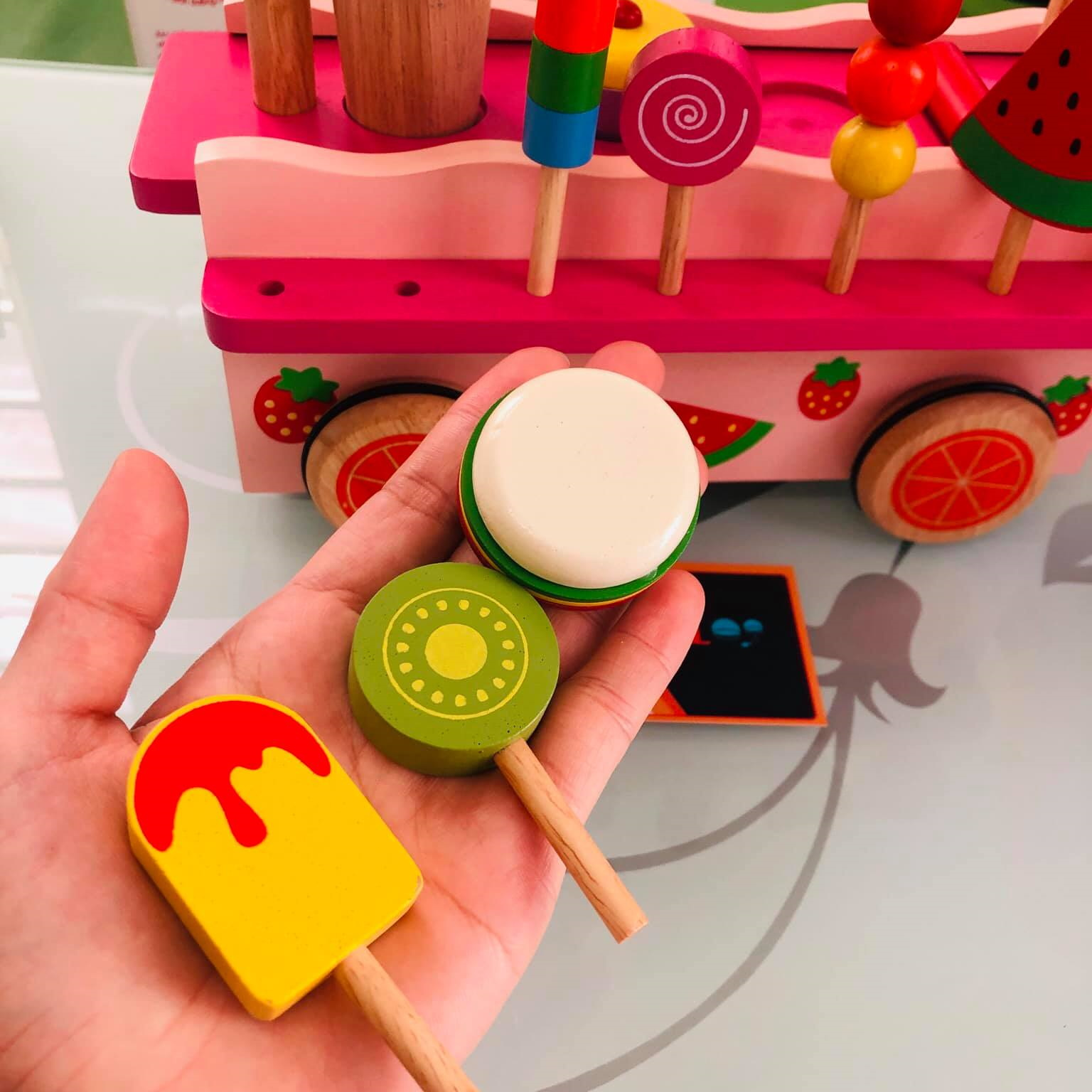 Trò chơi gian hàng cho bé Đồ chơi gỗ quầy bán hàng Việt Nam 4