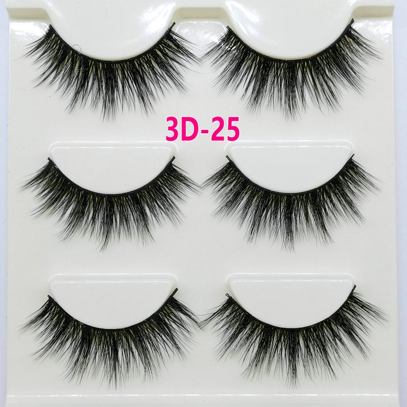 Lông mi giả lông chồn 3 Fashion Eyelashes 3 Faux-Cils 3D 1 bộ 3 cặp 98
