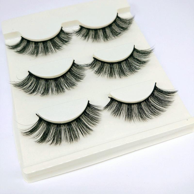 Lông mi giả lông chồn 3 Fashion Eyelashes 3 Faux-Cils 3D 1 bộ 3 cặp 111