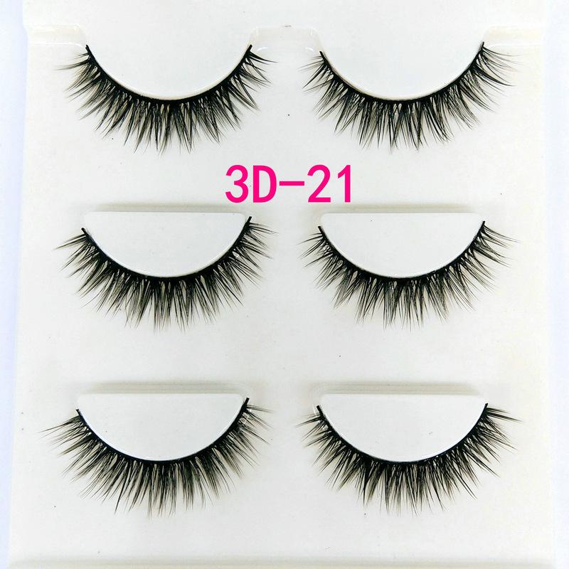 Lông mi giả lông chồn 3 Fashion Eyelashes 3 Faux-Cils 3D 1 bộ 3 cặp 82