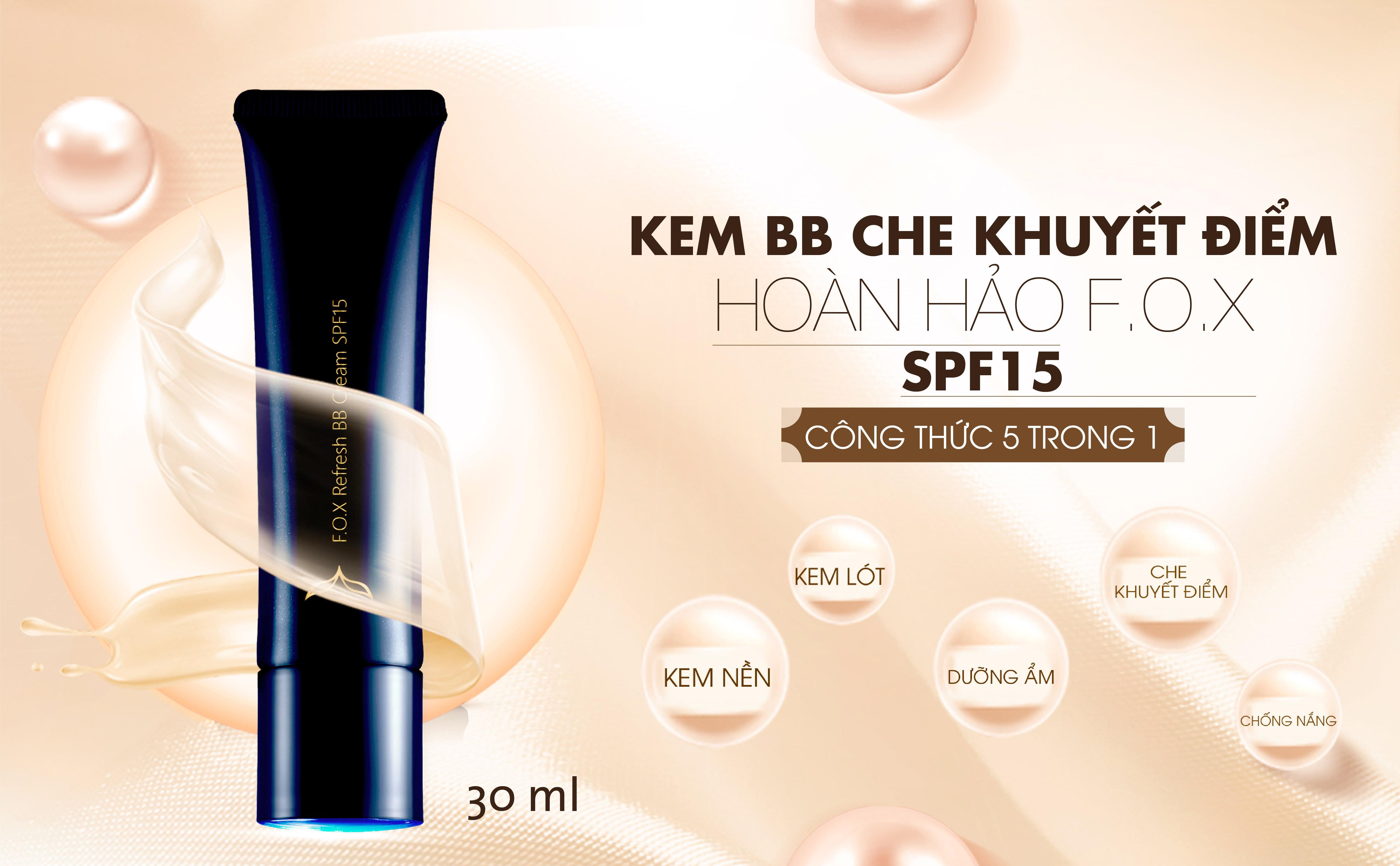 Kem BB Che Khuyết Điểm Hoàn Hảo F.O.X - SPF 15 Refresh BB Cream SPF15 30ml  | Tiki.vn