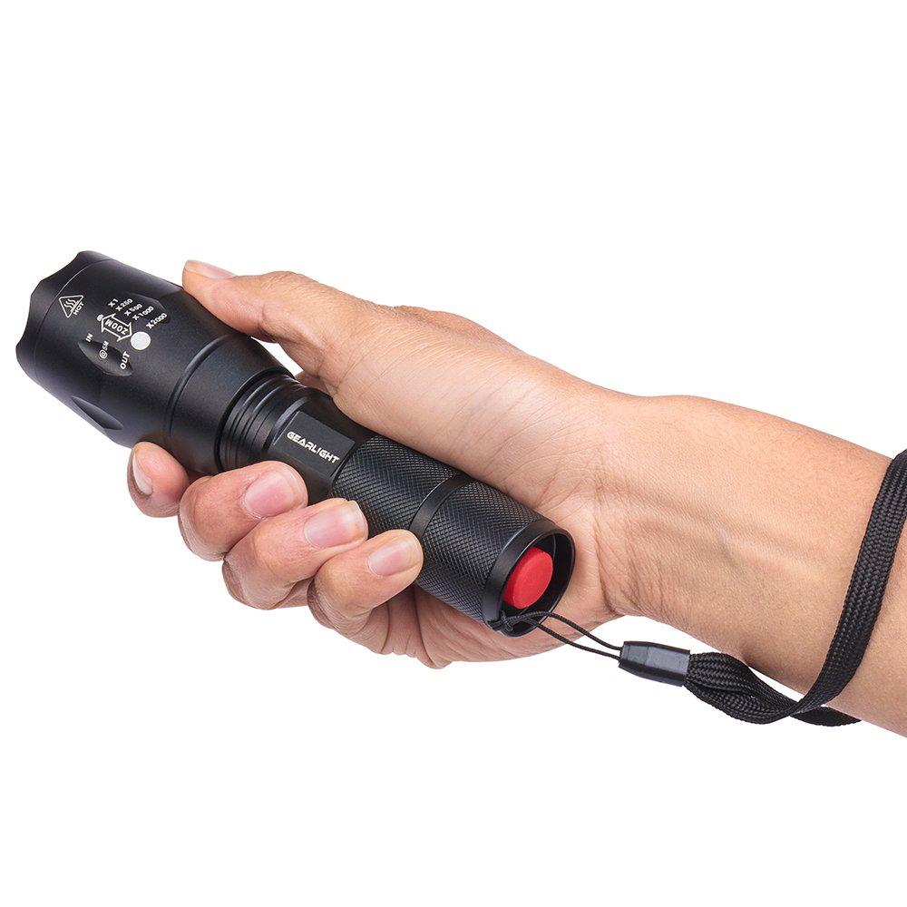Đèn pin led siêu sáng chiếu xa trăm mét Xinsite L2 cao cấp điều chỉnh được  5 chế độ tầm chiếu sáng và chống nước full bộ đèn sạc pin và hộp