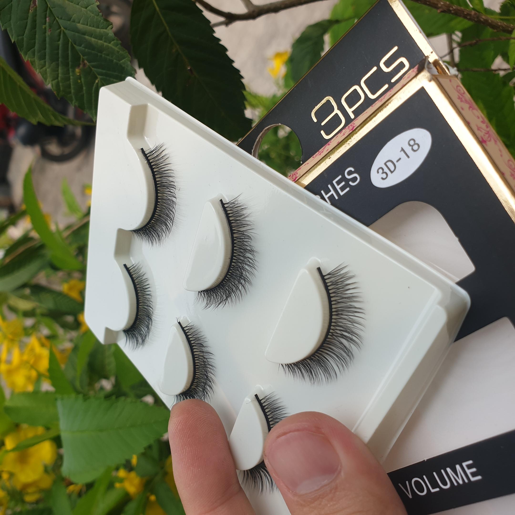 Lông mi giả lông chồn 3 Fashion Eyelashes 3 Faux-Cils 3D 1 bộ 3 cặp 73