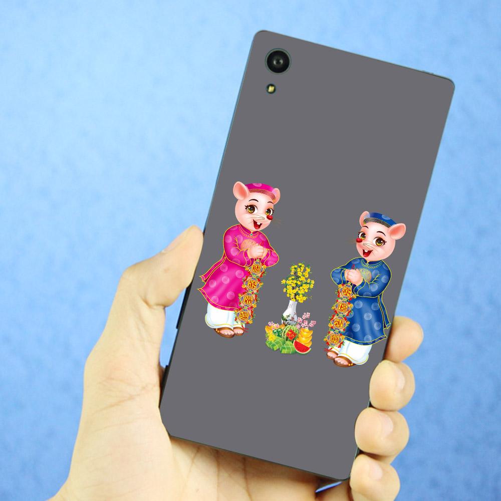 Ốp lưng điện thoại Sony Xperia XA1 - Chuột chúc tết mã 15 MS  CCTM15