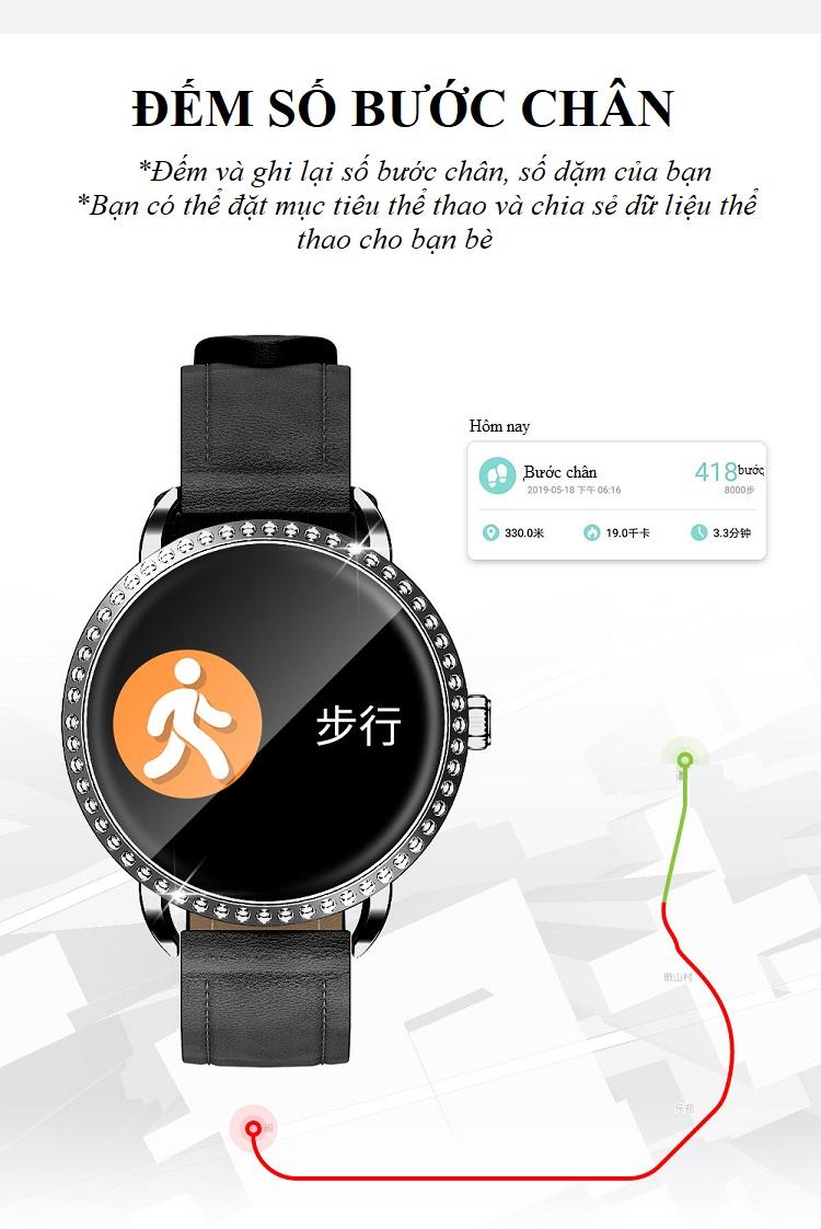 Đồng hồ theo dõi sức khỏe H7 (chống nước IP67) 9