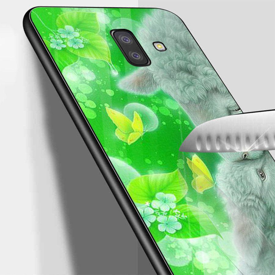 Ốp kính cường lực cho điện thoại Samsung Galaxy J6 - dễ thương muốn xỉu MS CUTE049