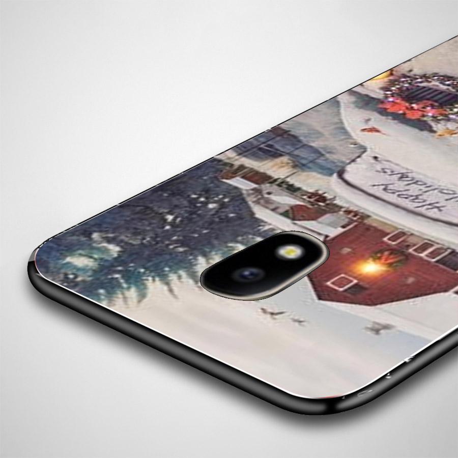 Ốp lưng cứng viền dẻo dành cho điện thoại Samsung Galaxy J2 Prime - giáng sinh đầm ấm MS GSDA007