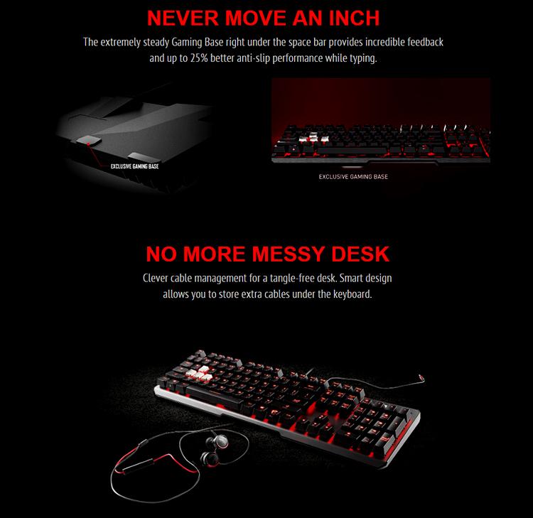 Bàn phím Gaming MSI Vigor GK60 - Hàng Chính Hãng