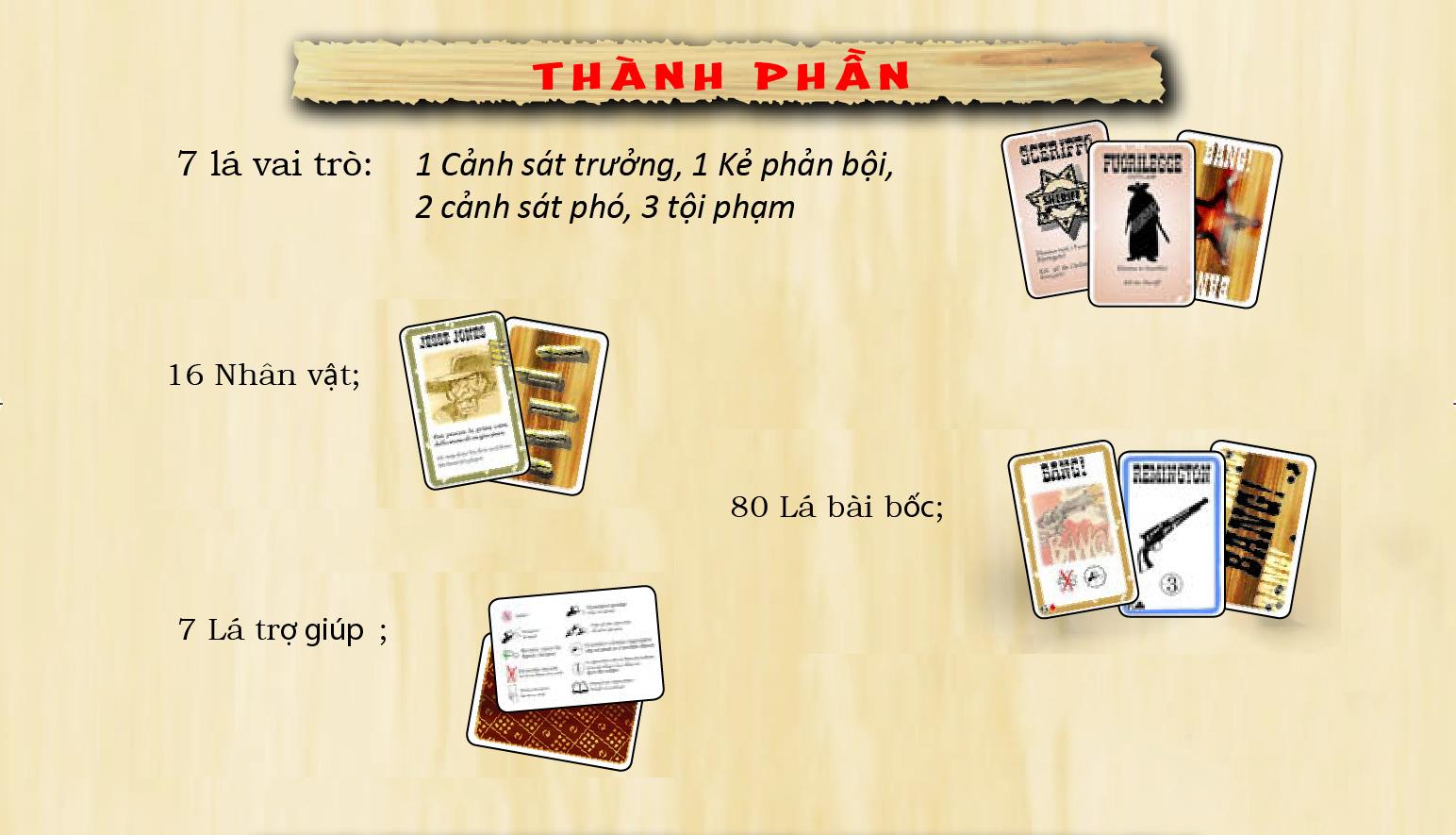 Boardgame Bài Bang! (Việt Hóa)