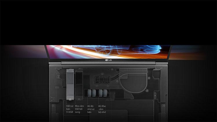 Laptop LG Gram 2018 15Z980-G AH55A5 Core i5-8250U/ Win10 (15.6 inches) – Hàng Chính Hãng - Silver