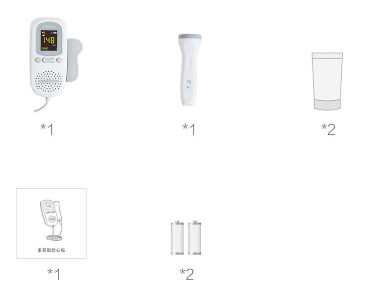 Xiaomi Mijia Andon Doppler Fetal Heartbeat Detector FD-600G 2.0MHz Advanced Sensitive Probe Smart Reduce Noise Explore