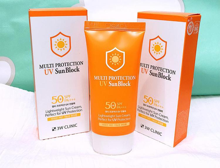 Kem chống nắng 3W Clinic Multi Protection UV Sunblock Cream SPF 50+ PA+++ 70 ml