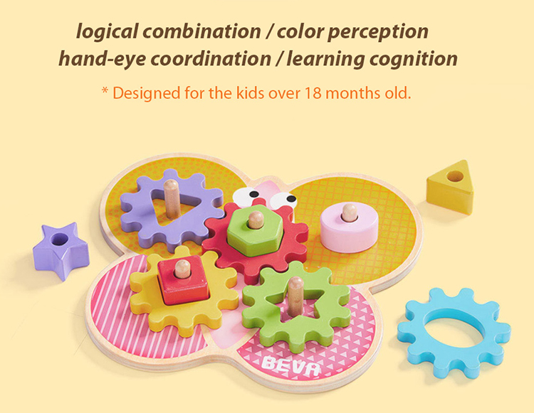 Xiaomi BEVA Kids Building Blocks DIY Educational Toy Gear Blocks Early Educational Toys For Smart Home Gifts for Kids - Colorful