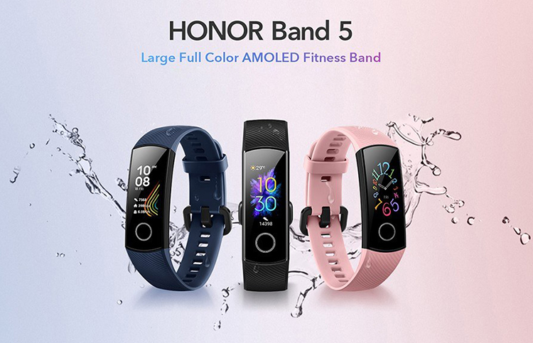 "HONOR Band 4S/5 0.95"" Large Full Color AMOLED Display Fitness Smart Bracelet 240 x 120 Pixels 8 Customize Watch Faces"