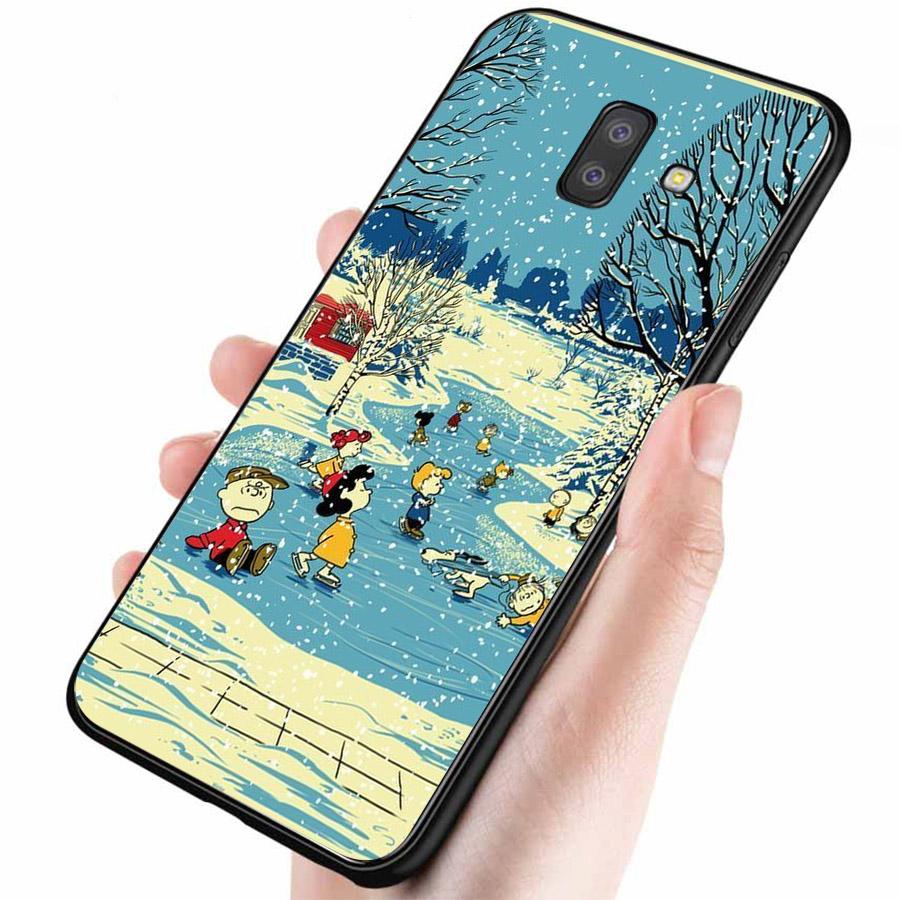 Ốp lưng cứng viền dẻo dành cho điện thoại Samsung Galaxy J6 PRIME - giáng sinh đầm ấm MS GSDA020