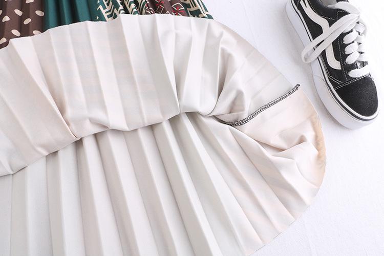 Chân váy xếp ly Vintage dáng dài chất không nhăn VAY35 phối nhiều màu (Free size) 12