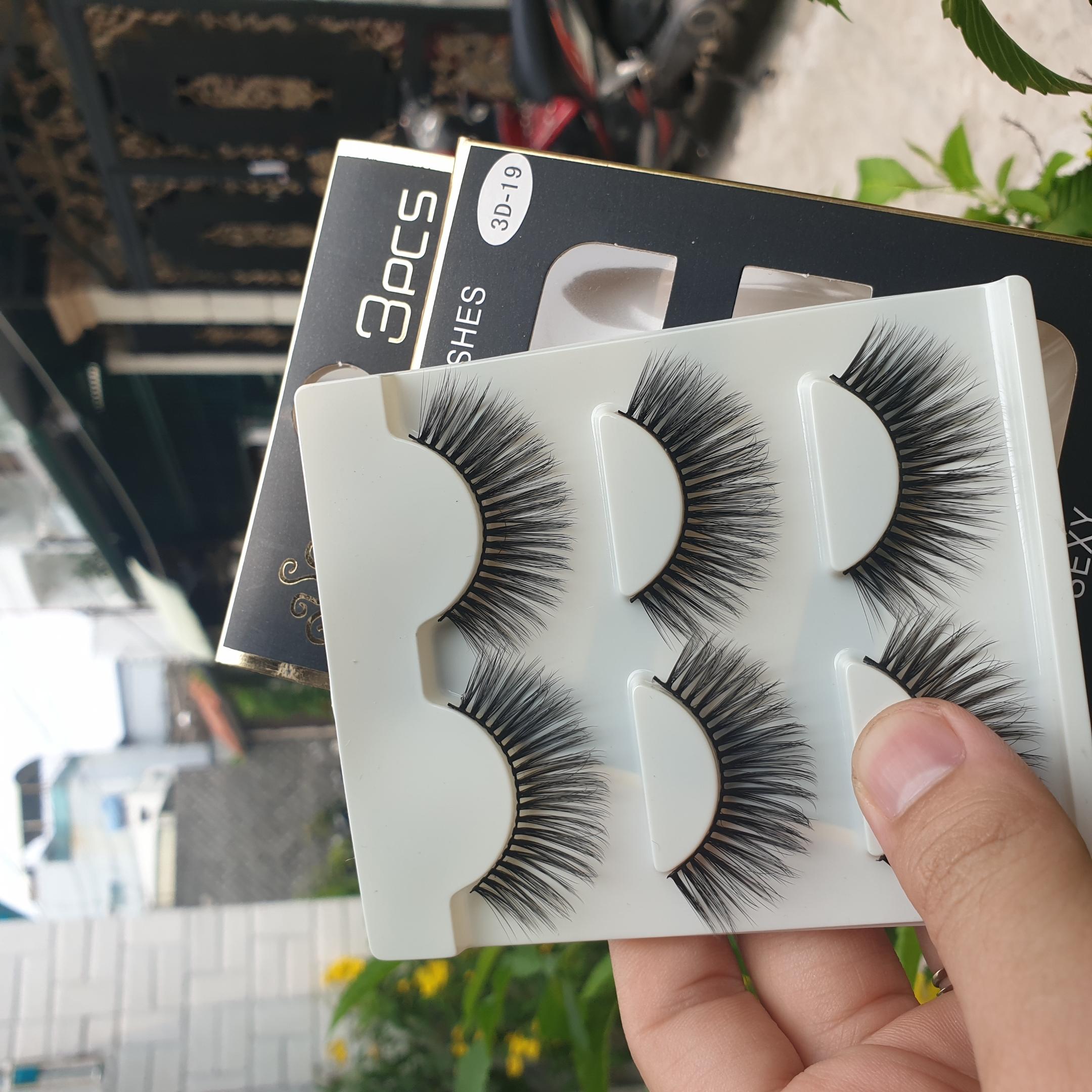 Lông mi giả lông chồn 3 Fashion Eyelashes 3 Faux-Cils 3D 1 bộ 3 cặp 76