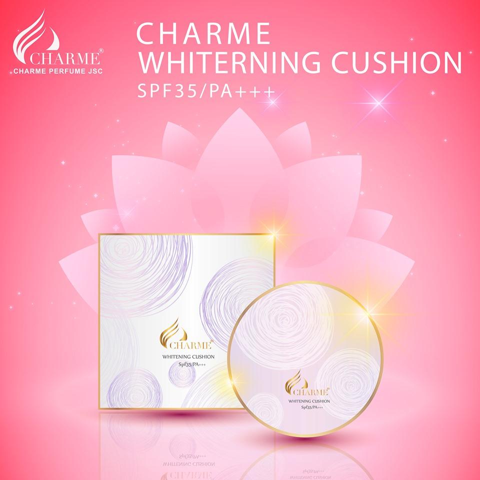Phấn Nước Charme Whitening Cushion SPF 35 PA+++ 3