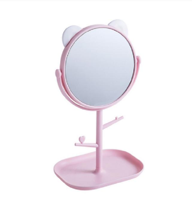 Gương trang điểm tai mèo tròn xoay 360 độ 1