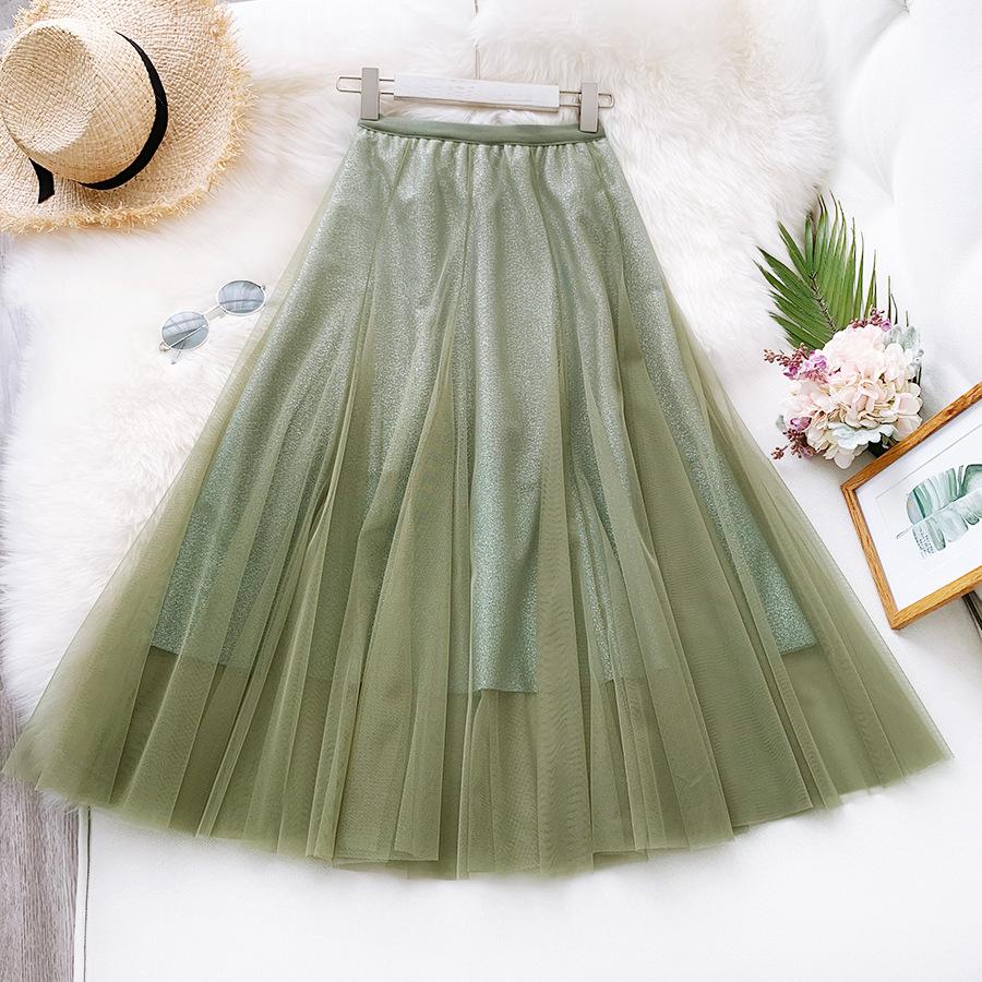 Váy xòe lưới tutu loang mầu lấp lánh VAY53 6