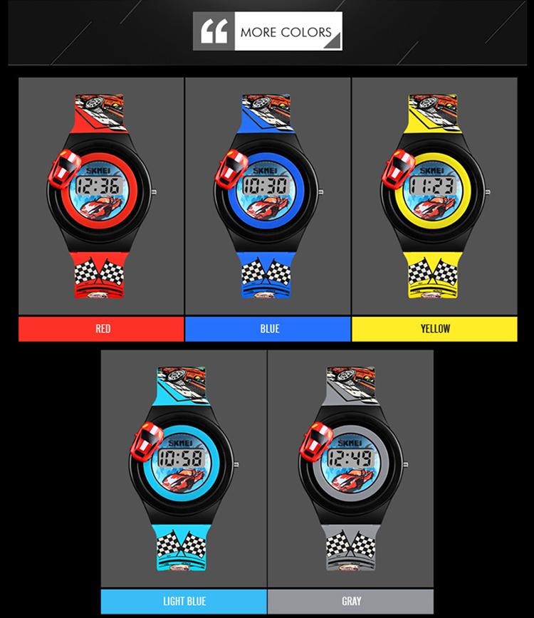 SKMEI 1376 Children Digital Watch Cartoon Creative Fashion Casual Sports Outdoor Wristwatch Backlight Multifunctional