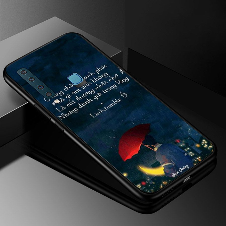 Ốp kính cường lực dành cho điện thoại Samsung Galaxy A9 2018/A9 Pro - M20 - lời trích - tâm trạng - tam066