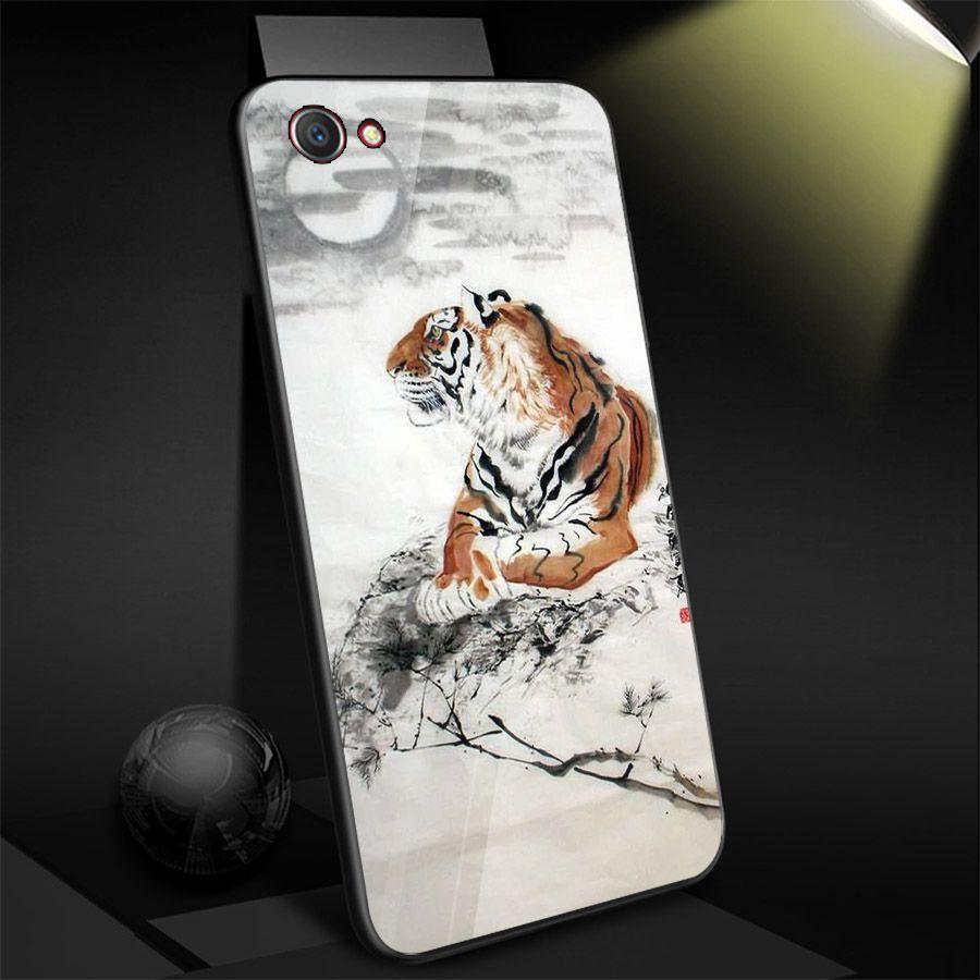 Ốp kính cường lực cho điện thoại Oppo F5 - F7 - A79 - long hổ MS TRANH015