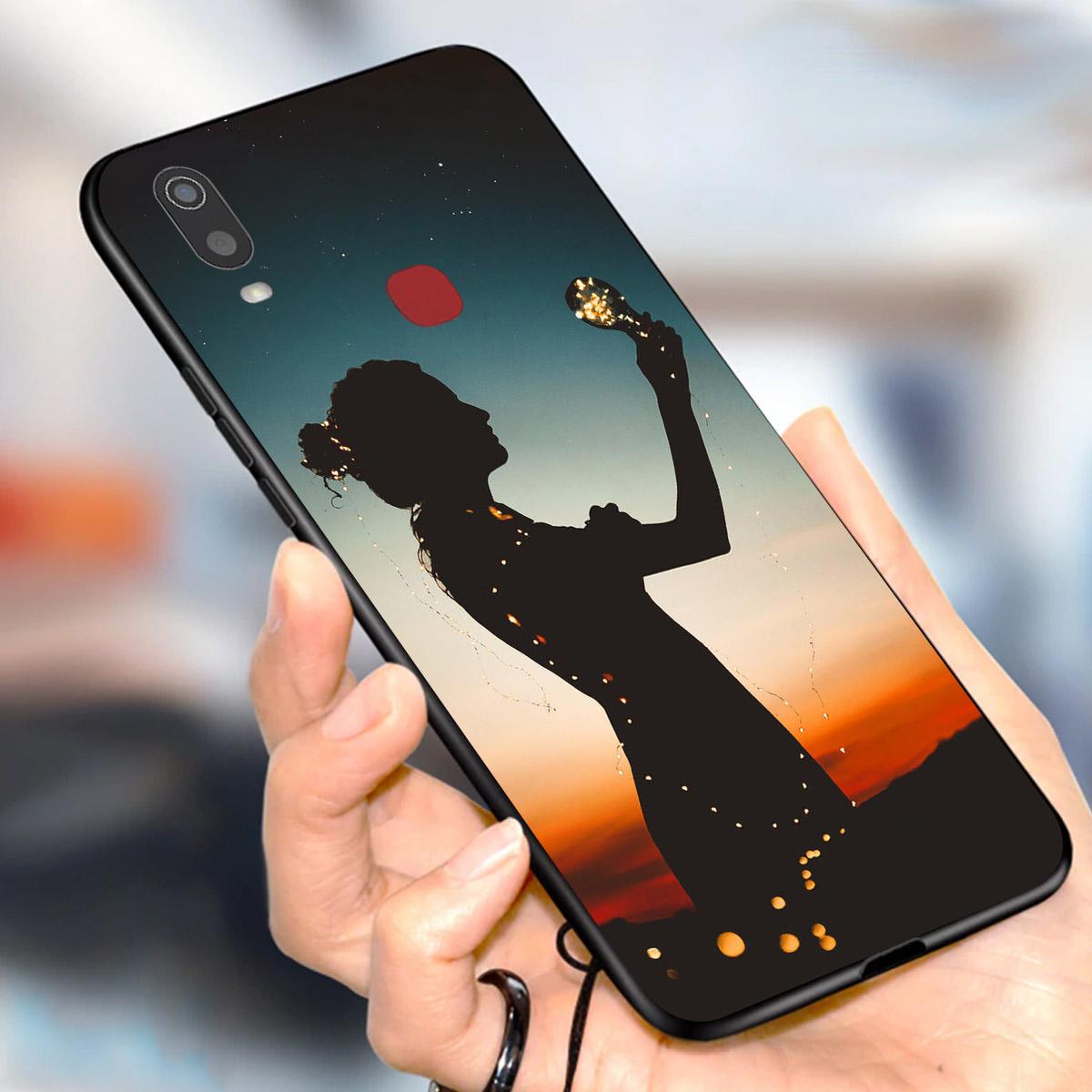 Ốp lưng dành cho điện thoại Vivo Y in họa tiết Cô gái