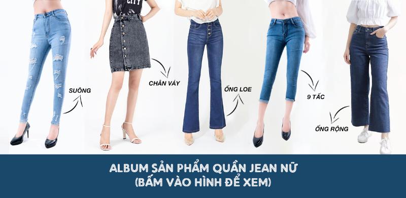 quần jean nữ trơn ống ôm wash xanh sáng 3