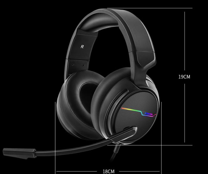 Siberia (XIBERIA) V20 computer headset gaming headset headset eating chicken headphones headset with wheat cable lighting subwoofer 7.1 channel black