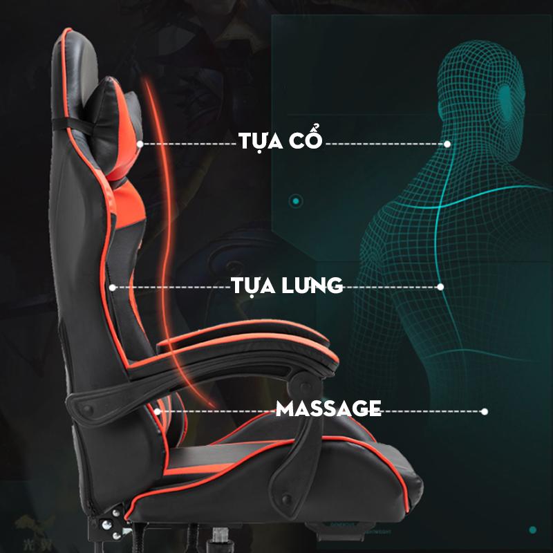 Ghế ngồi gmae thủ có massage và tựa chân G21 ( Giao mầu ngẫu nhiên ) - Hàng chính hãng 3