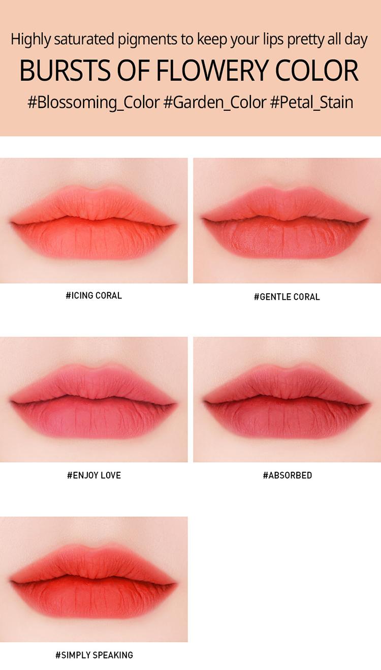 Son Kem Lì 3CE Velvet Lip Tint - Simply Speaking Cam Đỏ