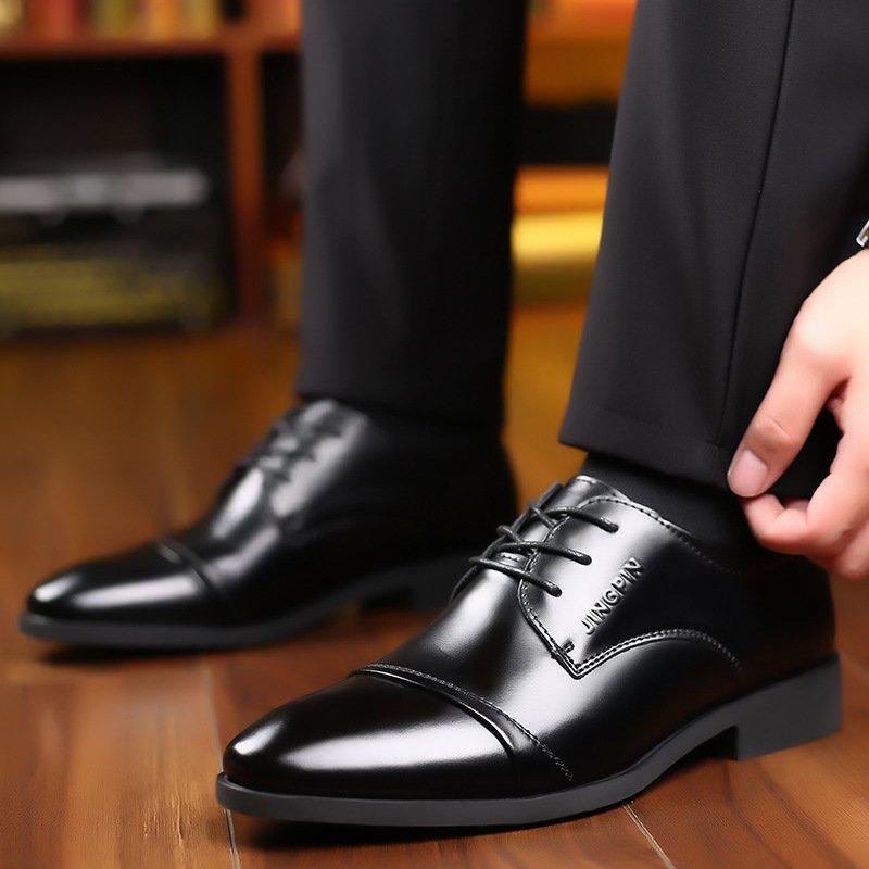 Giày da thật nam giày da nam cao cấp giày nam công sở sang trọng, phong cách thời trang giày da cao cấp giày nam mẫu mới mã 8867-A 13