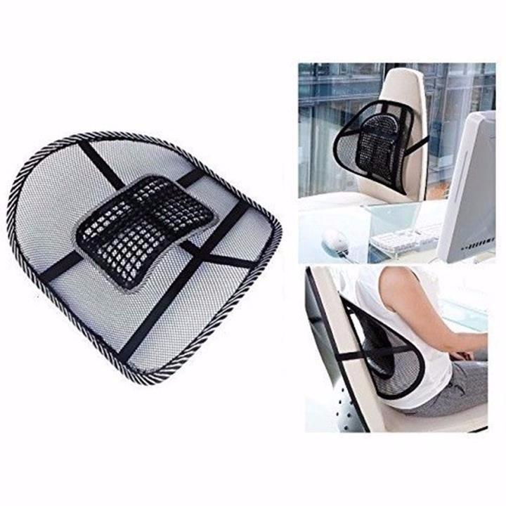 Tấm lưới đệm massage tựa lưng ghế ô tô (39 x 41 x 13cm) | Tiki