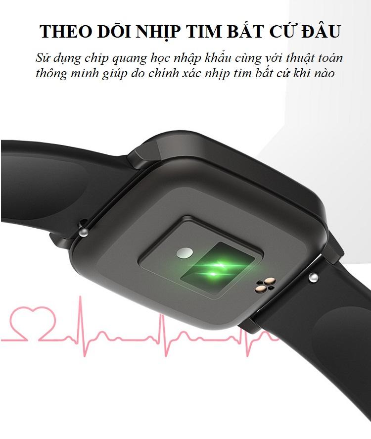 Đồng hồ theo dõi sức khỏe đa năng T_1_Q - Đồng hồ thông minh 11