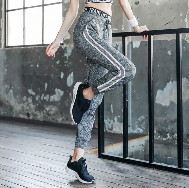 Quần dài Jogger thể thao nữ tập gym yoga Angel01 xám