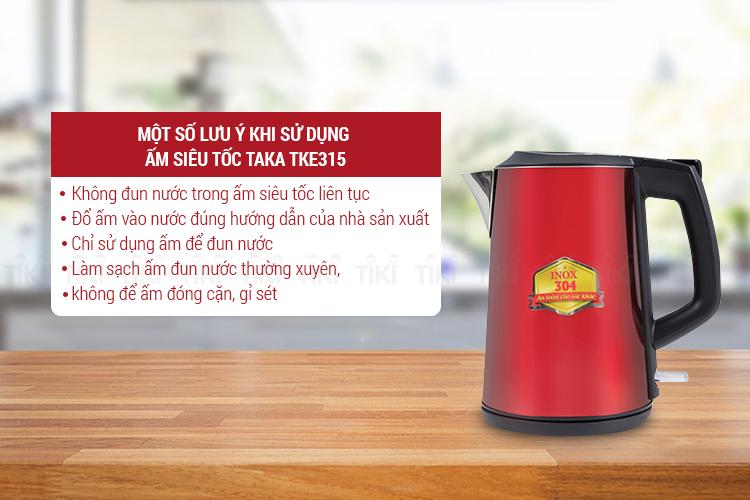 Ấm Đun Siêu Tốc 2 lớp Inox 304 Taka TKEK315 (1.5L)