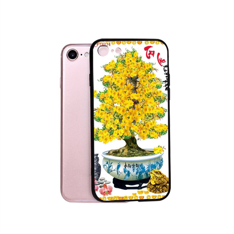 Ốp điện thoại dành cho máy iPhone 5/5s/se - Tranh Mai Đào MS MDAO029