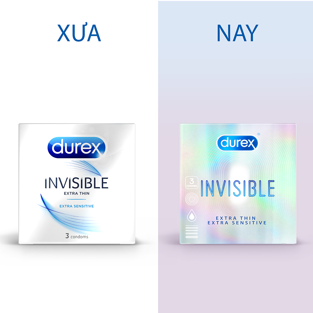 Bao Cao Su Invisible Durex 3S (3 bao / hộp) - 100930570