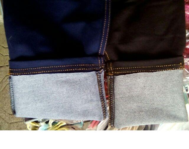 Quần legging giả jeans 4 túi dáng lỡ 1
