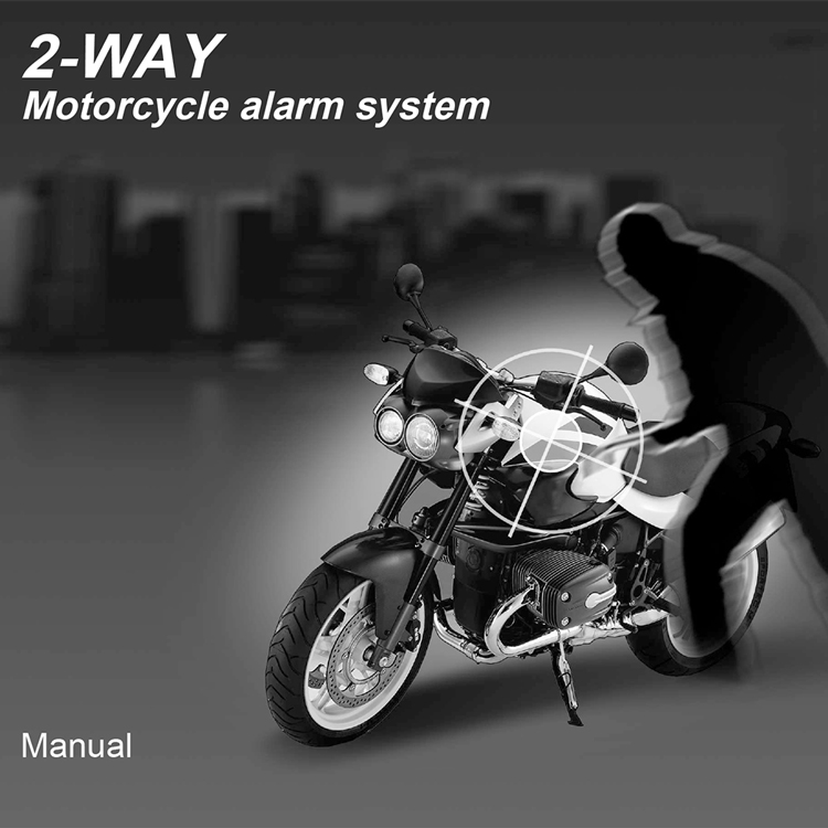 Steelmate 986XO 2 Way Motorcycle Alertor System Remote Engine Start Water Resistant ECU with LCD Transmitter Motorcycle
