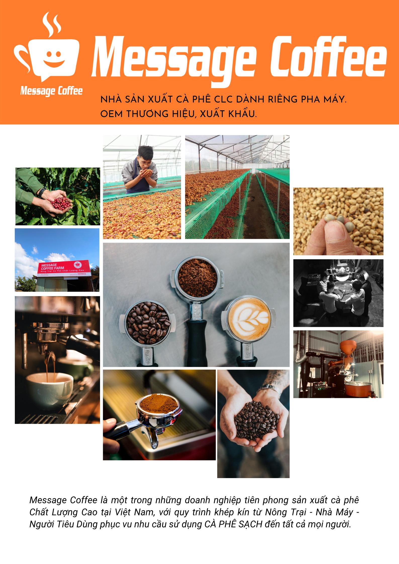 Cà phê robusta honey cafe message 1