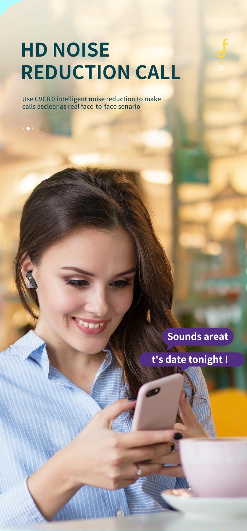 Tai Nghe Bluetooth V5.0 True Wireless Không Dây Reroka Torpedo 2021 Cảm Ứng Vân Tay Âm Thanh Hi-Fi  Bass Căng Trầm Pin Trâu Hiển Thị Mức Pin Đèn Led Chống Ồn Chống Nước Đổi Tên Thiết Bị Kiểu Giáng Thể Thao Đeo Chắc Tai 3 Màu Trắng Hồng Đen- Hàng Chính Hãng 5
