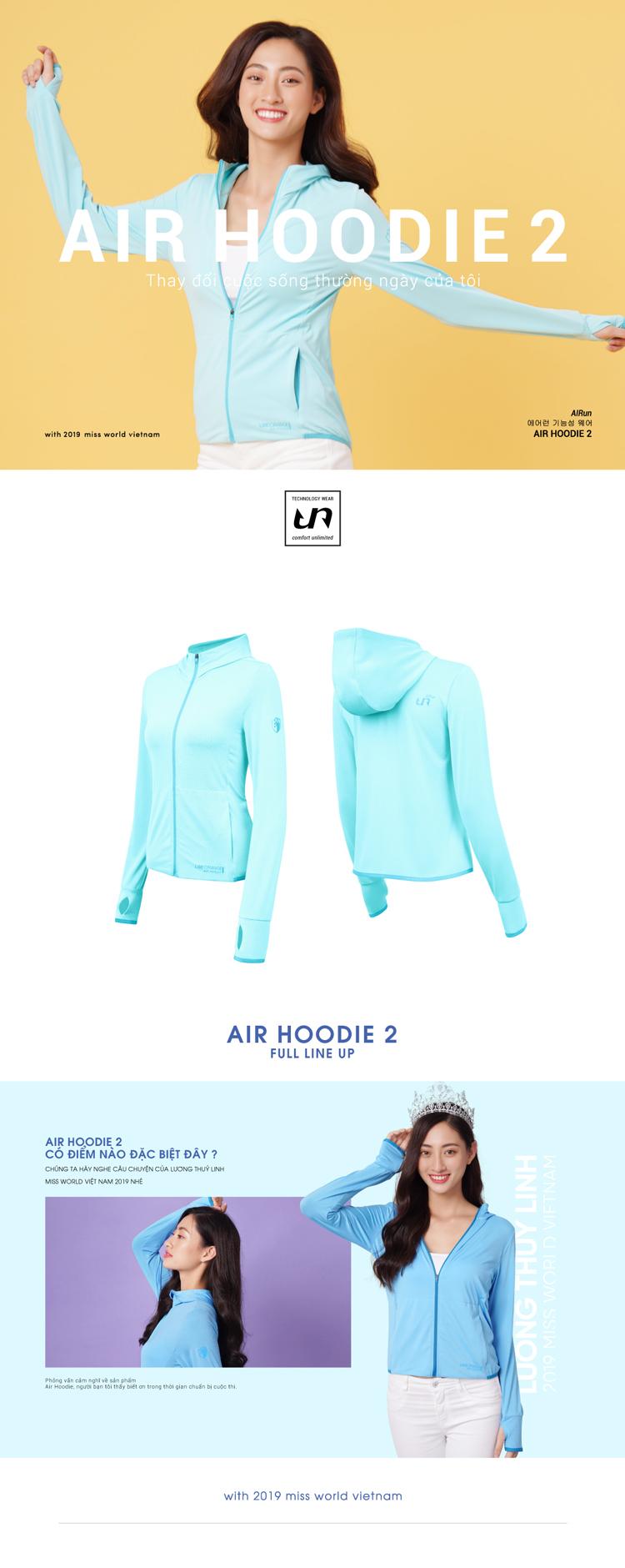 Áo khoác nữ Air Hoodie LO19707101-CY