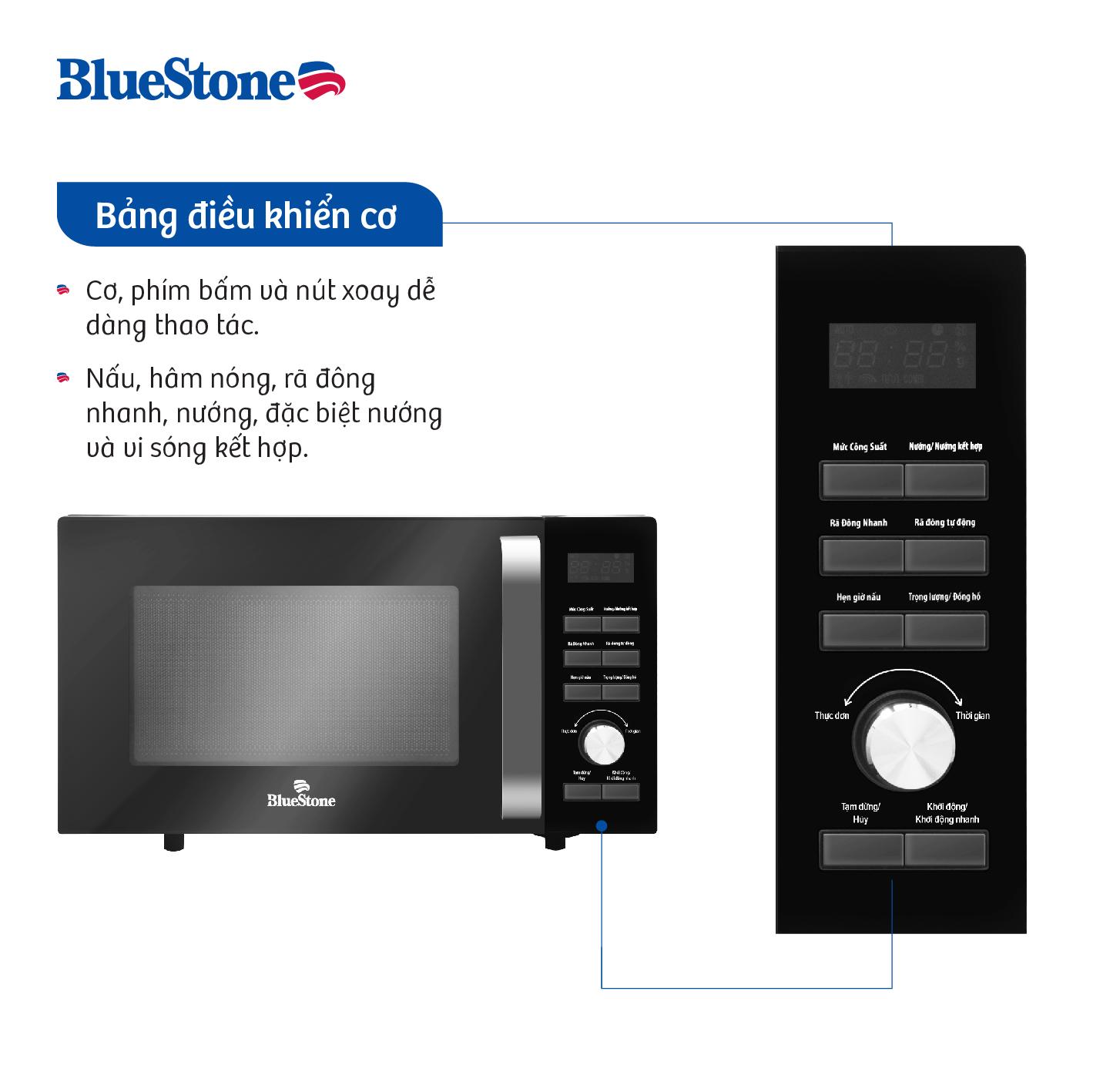 Lò Vi Sóng Bluestone MOB-7736 (23L) - Hàng chính hãng
