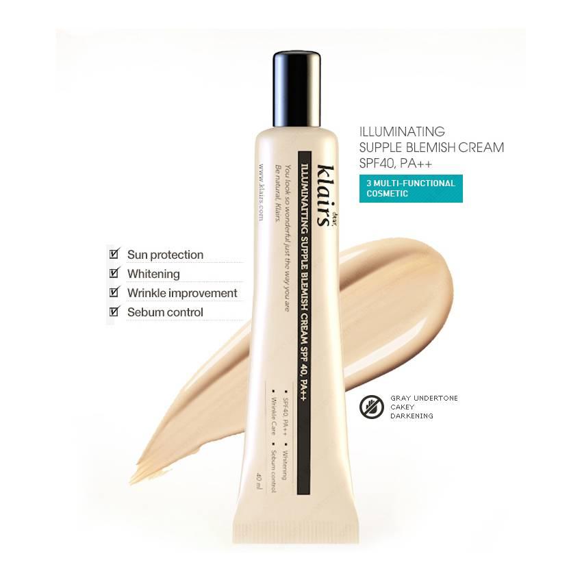 Kem Nền Klairs Illuminating Supple Blemish Cream SPF 40 PA++ 2