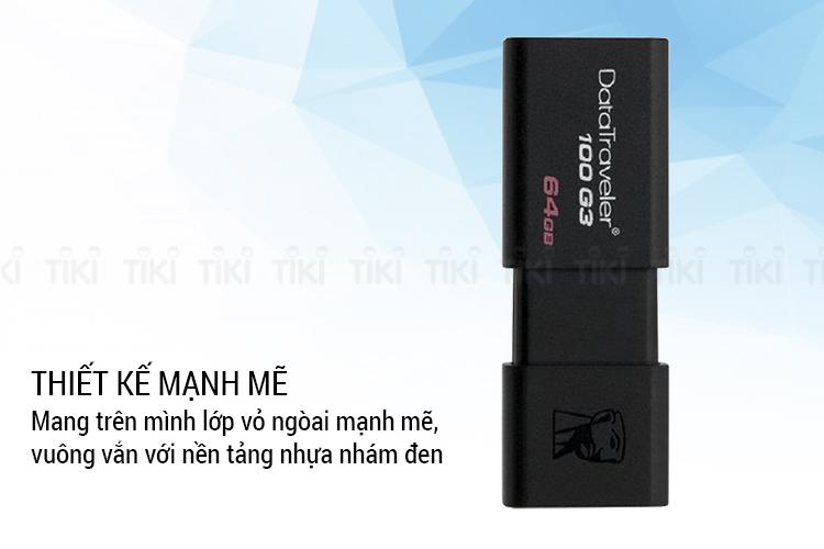 USB Kingston DT100G3 - 64GB - USB 3.0 - Hàng Chính Hãng = 165.000đ