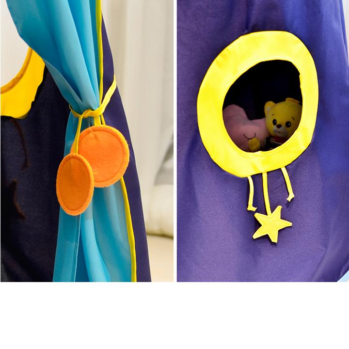 Lều hoàng tử - công chúa cho bé có đèn, lều cho bé PR001 (giao màu ngẫu nhiên) 2