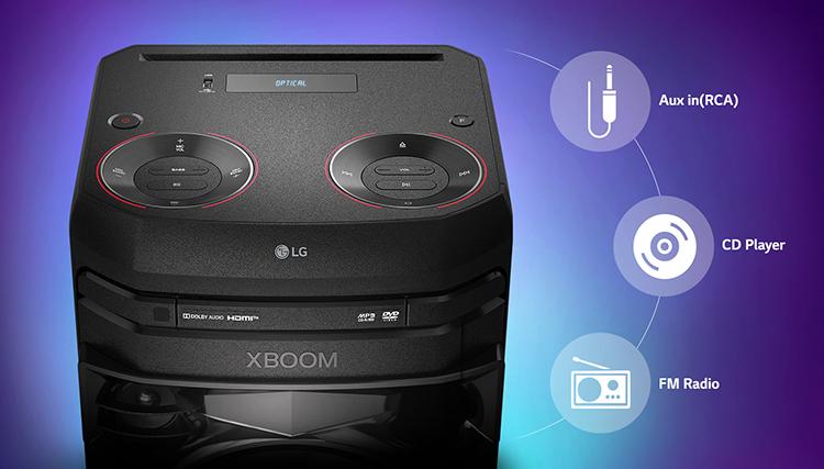 Loa Kéo Bluetooth LG XBOOM ON2D - Hàng Chính Hãng